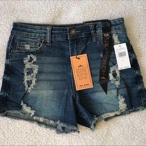 Elite Jeans high rise shorts